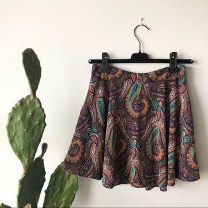 Lush Paisley Skirt
